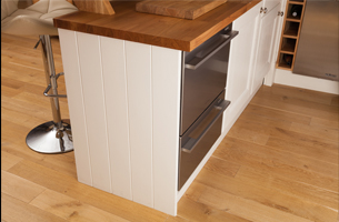 Solid oak end panel painted