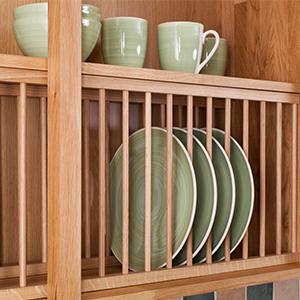 Installing Oak Plate Racks in Solid Oak Kitchen Cabinets - Solid ...