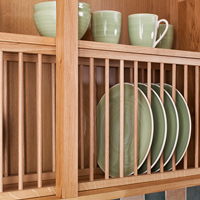Installing Oak Plate Racks in a Solid Wood Kitchen