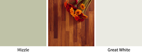 Ideal colour choices for combining with iroko worktops.