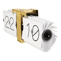 This Karlsson No Case White Flip Clock is a great finishing touch in any industrial kitchen
