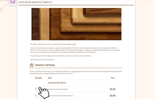 Solid Wood Kitchen Cabinets - Worktop samples