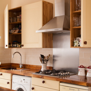 Case study - range cooker with Light Blue painted Shaker frontals