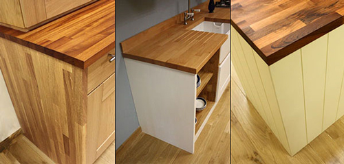 Solid Wood Kitchen Cabinets - Solid Oak End Panels