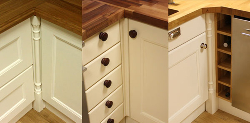 Solid Wood Kitchen Cabinets  Corner Posts