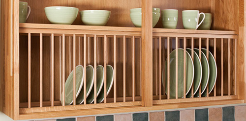 kitchen cabinet plate organizers a frontal accessories guide for oak kitchens solid wood 5663