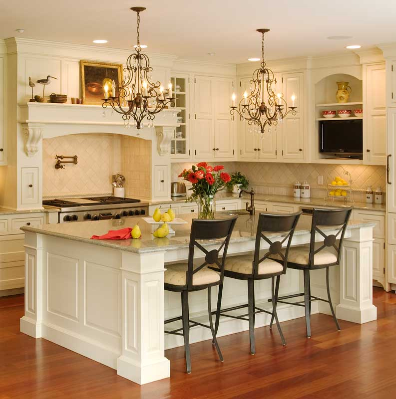 How to design an open plan kitchen solid wood kitchen for Open plan kitchen with island