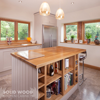 A kitchen island provides a social focal point and provides excellent storage in open plan kitchens designs.