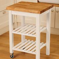 A kitchen island trolley is ideal for providing additional food preparation space in oak kitchens during the busy Christmas period.