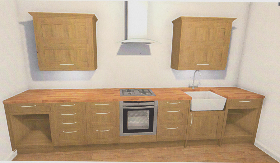 Wren kitchens reviews joe had completely stripped out the for Solid wood cabinets company reviews