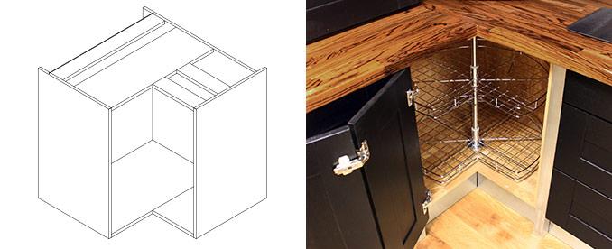 L Shaped Corner Base Cabinet
