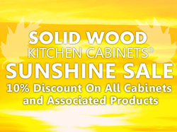 The Sunshine Sale is on! 10% off all cabinets and accessories