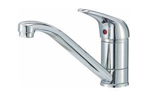 The Miami Basin Mixer Tap from Reginox is highly-affordable, and suits smaller sinks in a contemporary kitchen.