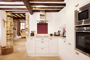 Contemporary painted Shaker kitchen in a beautiful traditional building.