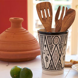 Moroccan kitchen accessories and Mediterranean foods