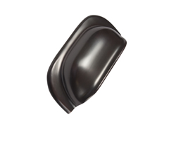 Mulberry Rubbed Bronze Cup Handle