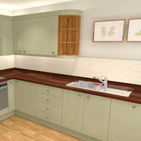 New Redhill showroom now open with oak kitchens.