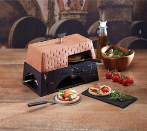 The Artesa Mini Tabletop Pizza Oven is a fantastic talking point for solid oak kitchens.