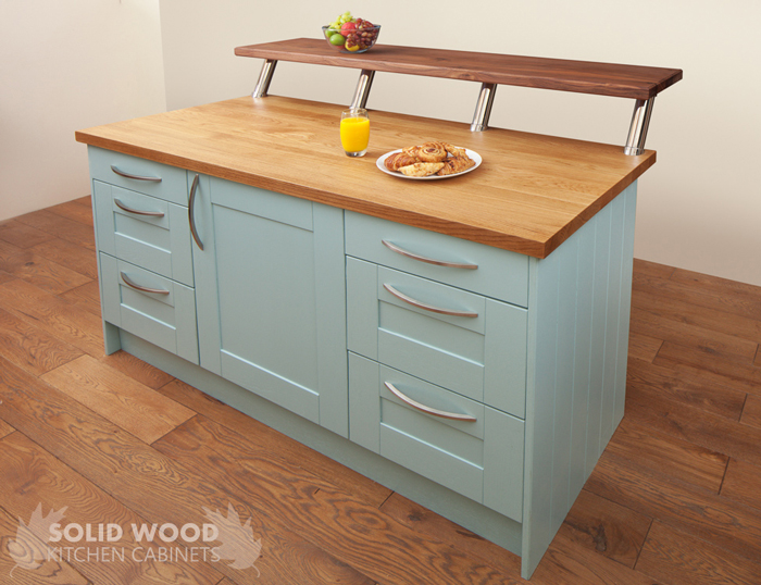 kitchen painted in Blue Ground by Farrow & Ball solid wood kitchens