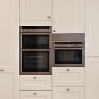 Oak full height cabinets with appliance housing