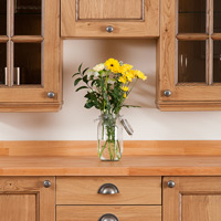 Our Traditional-style solid oak cabinet doors are the perfect starting point for creating a classic kitchen look