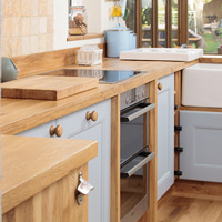 Once you have picked the perfect handles and worktops, we recommend choosing a type of wooden flooring for traditional kitchens.