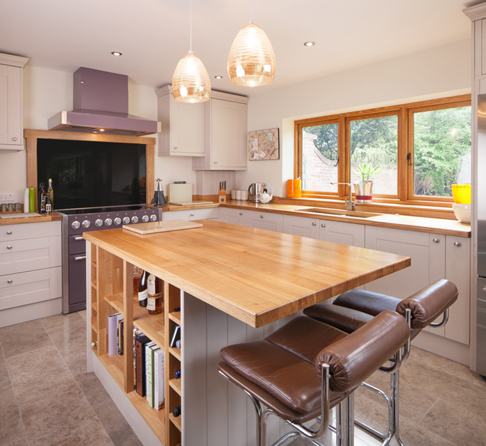 Stylish Breakfast Bars In Solid Wood Kitchens Our Top