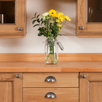 Oak traditional kitchen doors in lacquered finish