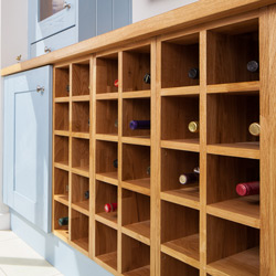 Oak Wine Rack Cabinets
