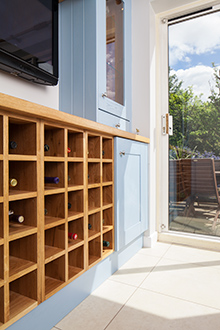 Make a feature of your wine collection with a beautiful oak wine rack