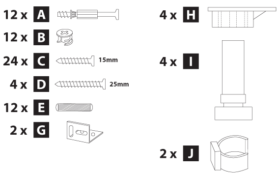 oven housing cabinet hardware