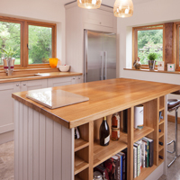 Painted oak kitchen in Elephant's Breath