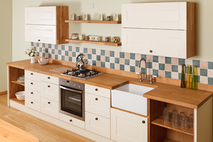 Find painted oak kitchens at our beautiful kitchen showrooms.