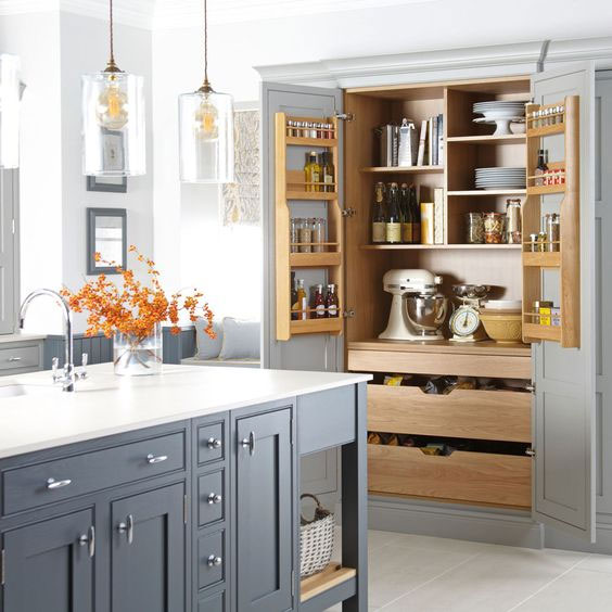 Using Tall Kitchen Cabinets to Maximise Storage Space ...
