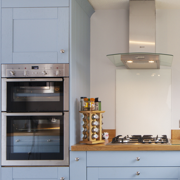Planning solid oak kitchens important measurements and for Eye level oven kitchen designs