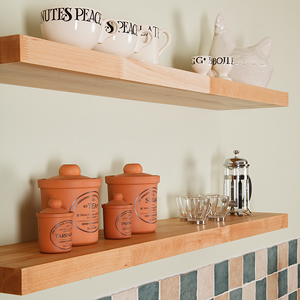 Beech Floating Shelves