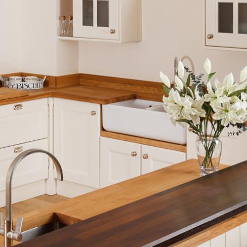 Oak Belfast Sink Riser | Solid Wood Kitchen Cabinets