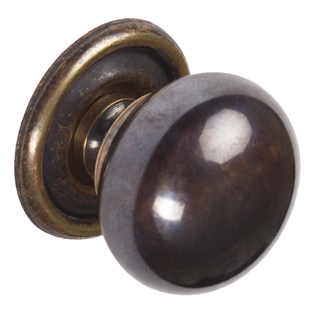 Brass Knob - Bronzed and Brushed - 33mm