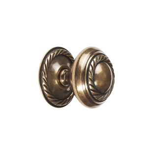 Georgian Rope Knob - Antique - 32mm