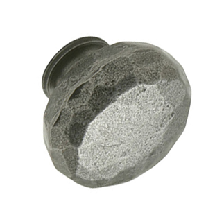 Hammered Knob - Cast Iron w/ Natural Finish - 32mm