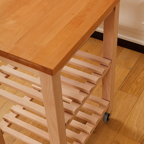 Kitchen island trolley beech worktop
