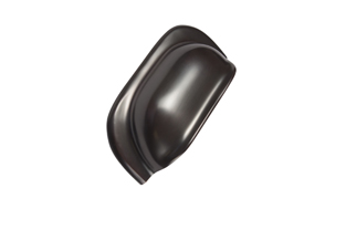 Mulberry Rubbed Bronze Cup Handle - 96mm