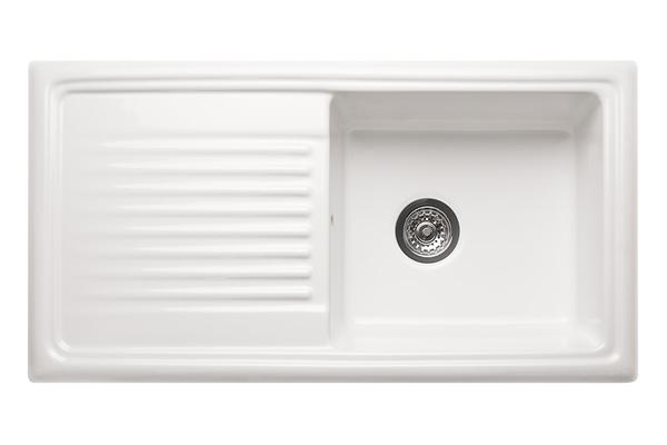 Reginox Ceramic Kitchen Sink - Single Bowl (Reversible)   Solid ...