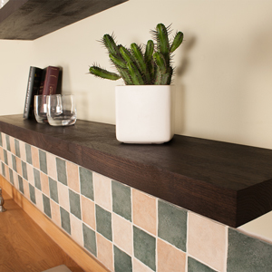 Black Oak Floating Shelf 1500mm x 200mm x 40mm