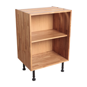 Solid Oak Slimline Base Cabinet H720mm X W450mm X D450mm