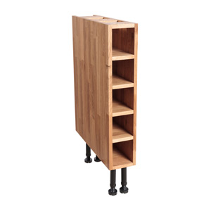 Solid Oak Wine Rack Base Cabinet H720mm X W150mm X D570mm