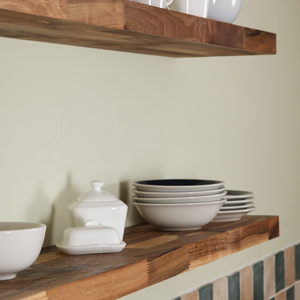 Walnut Floating Shelf 600mm x 200mm x 40mm