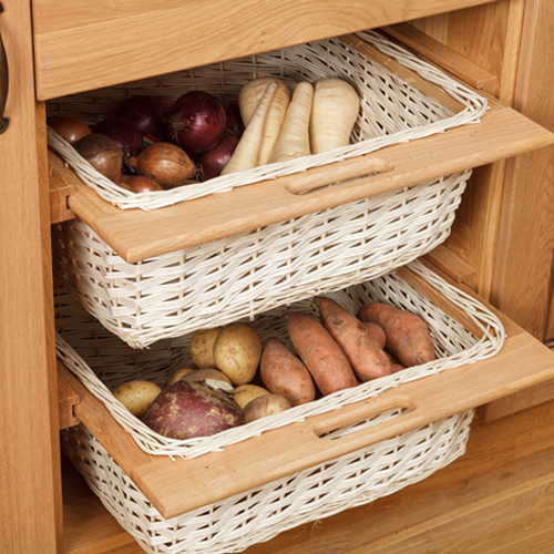 Wicker storage baskets oak cabinets for solid wood kitchens