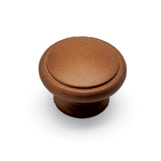 Solid Iroko Knob - Lacquered - 42mm