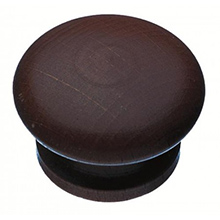 Solid Wooden Knob - Stained & Lacquered - 43mm